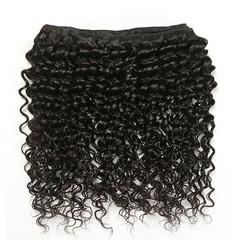 8A Brazilian Virgin Hair Deep Wave 1 Piece 26 inch 65cm 50g 100% Remy Human Hair Extensions Weave Bundles Nature Black RICHAIR