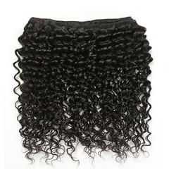 8A Brazilian Virgin Hair Deep Wave 1 Piece 30 inch 75cm 50g 100% Remy Human Hair Extensions Weave Bundles Nature Black RICHAIR