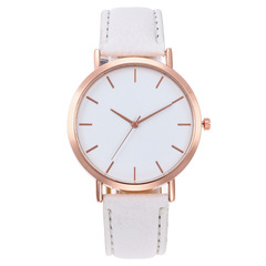 2019 Fashion Women Watches Ladies Watches Leather Stainless Steel Luxury Clock Wristwatch for Girl White 22CM