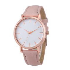 2019 Fashion Women Watches Ladies Watches Leather Stainless Steel Luxury Clock Wristwatch for Girl Pink 22CM