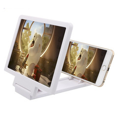 Phone Screen Magnifier VR 3D HD Movie Video Amplifier Foldable Holder for Iphone Huawei Infinix LG white one size