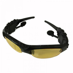 New Wireless Earphones Stereo Handfree Bluetooth Headphones Sunglasses Earpieces Glasses Headsets Yellow