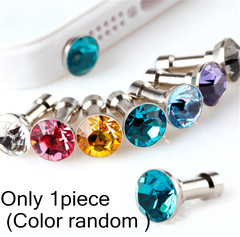 3.5mm Diamond Dust Plug Mobile Phone accessories gadgets Earphone Dust Plugs For iphone Huawei mix one size