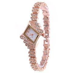 2019 Fashion Wrist Watch Wristwatch For Women Jewelry Shiny Rhinestone Synthetic Diamond white 20.5cm