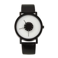 Fashion Wrist Watch Men Women Casual Simple Style Round Dial Couples Lovers Quartz Wristwatches black one size