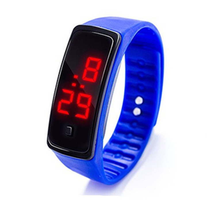 2019 Casual LED Digital Display Bracelet Watch Fashion Silica Gel Sports Watch Couple Watch color 01 one size