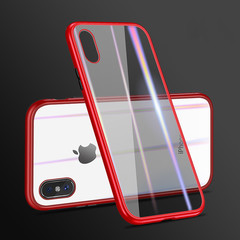 PC Frame Electroplated Glass Back Magnetic Phone Case For Iphone Xr Xs Max X 7 8 6/6s 6/6splus color 3 iphone x