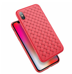 Luxury Braided Soft Case For iPhone X 7 8 6 Phone Case Grid Weaving Silicone Full Phone Cover color 4 iphone 6
