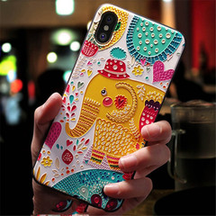 3D Emboss Cartoon Patterned Phone Case For iphone X 8 7 6 6S Plus 5 5s X Cases Soft Silicone Cover color 2 iphone 5