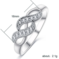 Lady Ring  Women's Silver-plated Diamond Ring Jewelry/Ring is your best friend and Confidante white 7