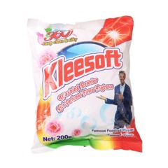 Kleesoft Washing Powder with Rich Perfumed Flower Fragrance as the picture 200g as the picture 200g
