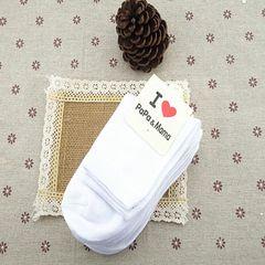 New Spring Summer socks white comfortable cotton socks white for 3 to 6 years children White for 3 to 6 years children