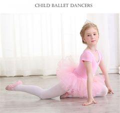 Ballerina Dance Gymnastics Leotard for Girls Dancing Bodysuits Costumes Clothing pink Red 120cm Pink 120cm