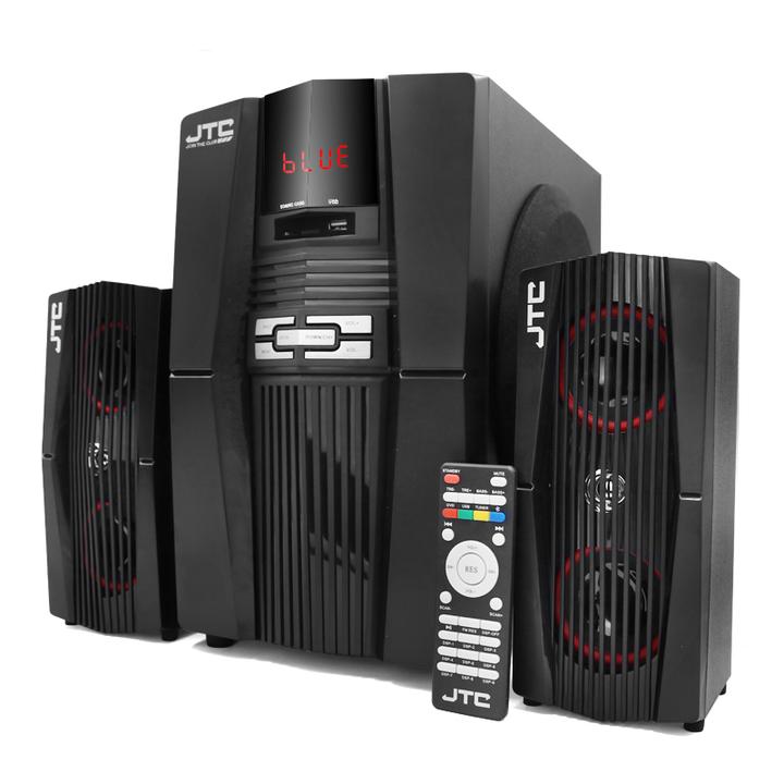 J608 2.1 Multimedia Speaker System JTC Woofer Black 9000W PMPO J608