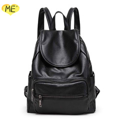 2019 New Lady's Backpacks Fashion Backpacks Litchi Print Lady's Backpacks Black Lady's Backpacks black one size