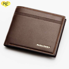 Buy One Get One Free Men's Business Casual Wallet Litchi Leather Wallet Men's Wallet Men's Bags brown one size