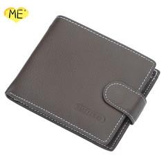Men's Leather Wallet Short Vintage Buckle Men Wallets Business Multi-function Men Wallet Men's Bags brown one size