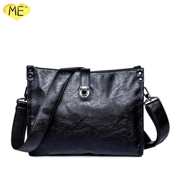 Men's Cross-body Bag Business Casual Tote Bag High Quality PU Classic Fashion Super Capacity Bags black one size