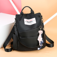 Valentine's Day Promo FBK Casual Women Daily Backpack Back Zipper Anti-thief Schoolbag Black One Size