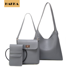 Valentine's Day Promo FBK Women Handbags Set of 3 PCS Shoulder Bag Top Handle Tote grey one size