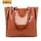 Crocodile Embossed Women's Handbag  Leather Tote Shoulder Bags Big Capicity Brown 12inch*5inch*12inch