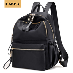 Valentine's Day Promo HAKKA Women Backpack Waterproof Lightweight Casual Ladies Schoolbag black one size