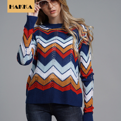 Women Sweaters Pullovers American Style Long Sleeve Casual Crop Sweater Slim Solid Tops NO.1 s