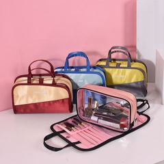 HAKKA Wash Accessories Bag Traveling Stuffs Folder Bathroom Items Organizer Large Capicity Yellow