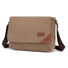 MeCooler Men Briefcase Shoulder Bag Travel Cross Body Messenger Bag for Work Sports Side Bag Brown Large