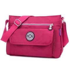 MeCooler Messenger Bag for Women Satchel Girls Crossbody Shoulder Bag Casual Sport Travel Bag Red Large