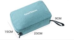 High quality travel waterproof wash bag hanging folding cosmetic bag portable storage bag 1 black