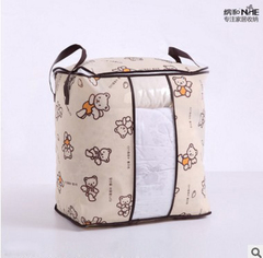 New Non-woven Portable Clothes Storage Bag Folding Closet For Pillow Quilt Blanket Bedding Angel Bear