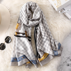 Mother gift New Silk Satin Scarf Simulation Silk Shawl Beach Towel Summer Sunscreen Shawl 3