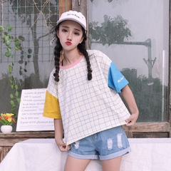 Women Tshirt Spring Summer Fashion Print Short Sleeve O Neck Cotton Womens Tops Casual Loose T shirt as the picture S
