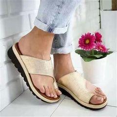 New Women Sandals Slippers Dual-Use Platform Toe Sandals Feet Bone Thumb Valgus Correction bronze 41