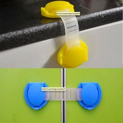 Child safety lock, kitchen cabinet lock, refrigerator lock, bookcase lock to protect your baby yellow 15cm