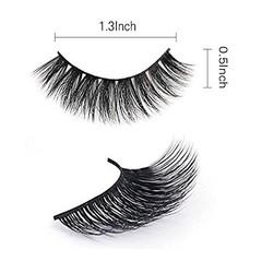 Mixed 3D Mink Hair False Eyelashes Full Strips Thick Cross Long Lashes Wispy Fluffy Eye Makeup Tools Black