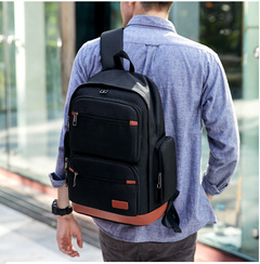 OBTENG 2019 new portable fashion business bag men's and women's notebook computer backpack blue one size