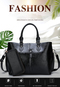 OBTENG 2019 New Pure Color Pack Simple Retro wearable handbag Large capacity bag black one size