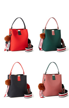 OBTENG 2019 New Fashion Korean Bucket Bag Single Shoulder Portable Oblique Girl Bag green one size