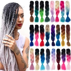 24'inch 100g Synthetic Jumbo Braids Crochet Hair Grey Purple Ombre Kanekalon Braiding  For Women plz tell me the number before you buy 1pvc