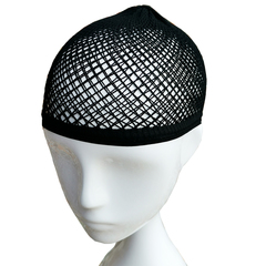 Nicekey  Wig Cap Open End Black Mesh Net Liner Weaving Cap Back one size