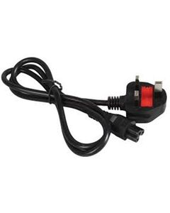 Universal Power Cable For Laptop - 1.5M - Black Black 1.5 Mtrs