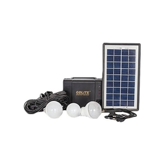 GDLITE GD-8006-A - Solar Lighting System - Black Black 3-7