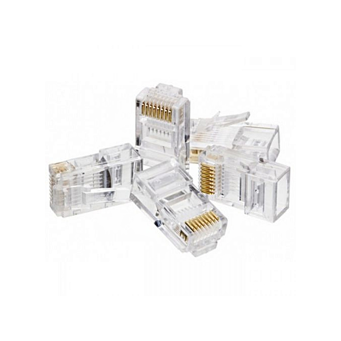 RJ45 CONNECTORS - 40's PACK Clear Normal
