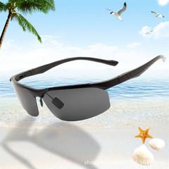 Men's polarized sport ski goggles cycling outdoor fishing sunglasses black