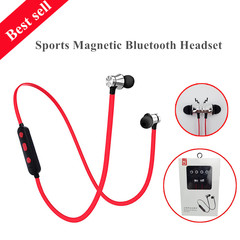 KJ001 Fashion Magnetic mobile phone necklace wireless sports Bluetooth 4.2 Stereo headset earphone Refer to pictures