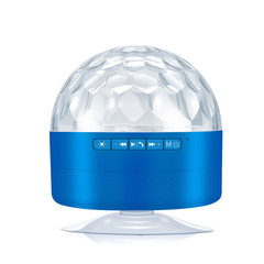 Hot Style Wireless Bluetooth LED Stage Audio Seven-color lighting Speaker Radio Mini Speaker blue L*W*H=84*84*94mm