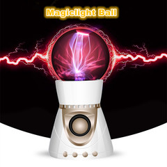 Creative Flashing Thunder Magic Ball Bluetooth Speaker Touch Nightlight Card Speaker Subwoofer white L*W*H=108*108*210mm