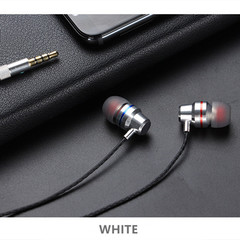 Metal In-Ear Subwoofer Wire-controlled Earphone Mobile Phone Computer General Purpose (G60) Silver